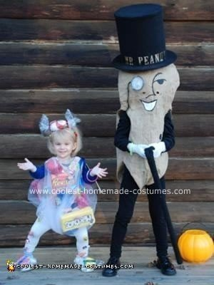 Homemade Mr. Peanut and Bag of Sweets Costumes