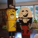Homemade Mr. Peanut and Humpty Dumpty Costumes
