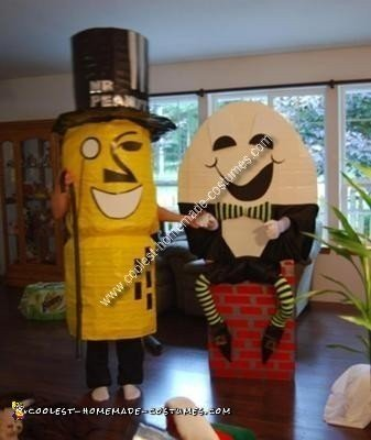 Homemade Mr. Peanut and Humpty Dumpty Costumes