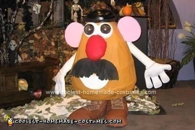 my son and i love toy story and mr potato head so i decided to go all out and make this homemade mr potato head halloween costume