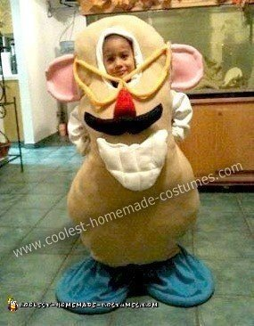 Homemade Mr. Potato Head Halloween Costume