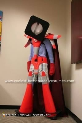 Homemade Mr. Safety Traffic Cone Costume