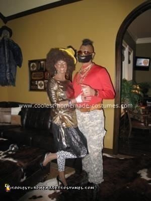 Homemade Mr. T and His Girl Costume