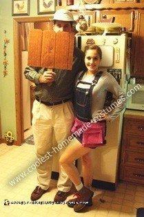 Homemade Mr. Wilson and Heidi Couple Costume