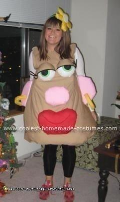 Coolest Homemade Mrs. Potato Head Costume