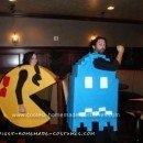 Homemade Ms Pac Man and Ghost Halloween Couple Costume