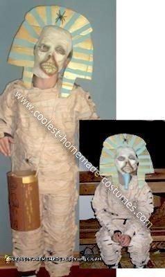 Homemade Mummified King Tut Costume
