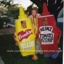 Homemade Mustard, Ketchup and Weeny Family Costume
