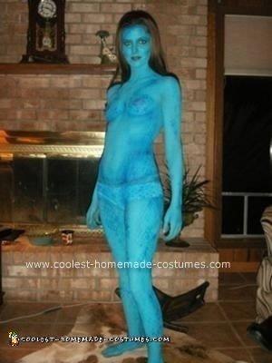 Homemade Mystique from X-men Halloween Costume