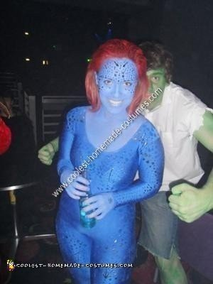 Homemade Mystique Halloween Costume Idea