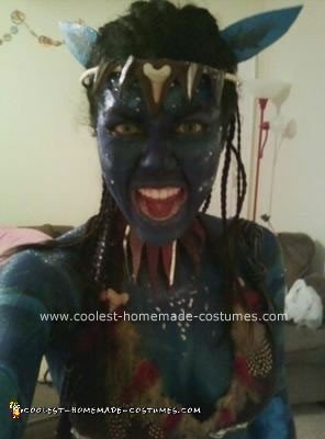Homemade Na'vi Avatar Unique Halloween Costume Idea