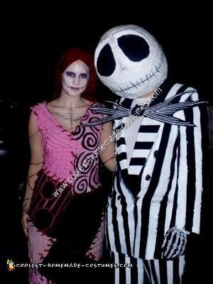 Homemade Nightmare Before Christmas Couples Costume