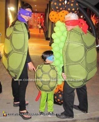 Homemade Ninja Turtles Group Costume