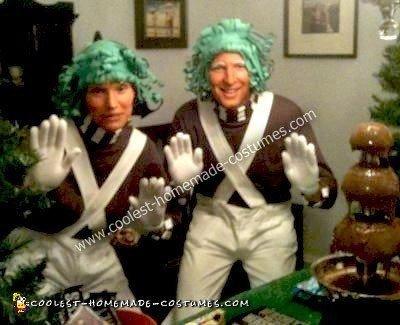 Homemade No Sew Oompa Loompa Costumes