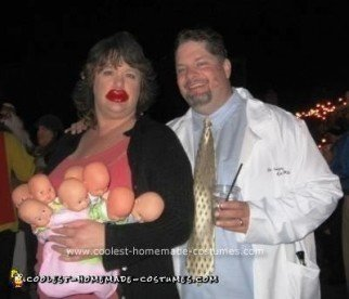 Homemade Octomom and Fertility Doctor Dan Couple Costume