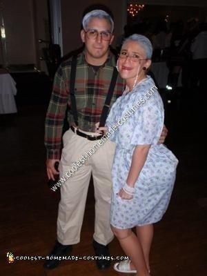 Homemade Old Couple Halloween Costume Idea