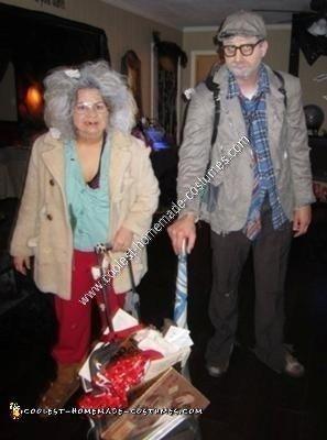 Homemade Old Homeless Couple Halloween Costume Idea