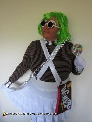 Homemade Oompa Loompa Girl Costume