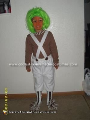 Homemade Oompa Loompa Halloween Costume