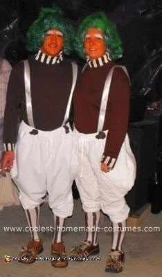 Homemade Oompa Loompa Halloween Costumes