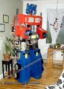 Homemade Optimus Prime Costume