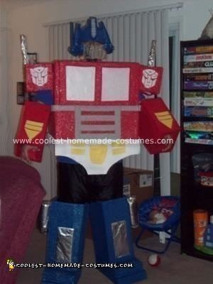 Homemade Optimus Prime Halloween Costume