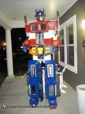 Homemade Optimus Prime Halloween Costume Idea