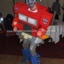 Homemade Optimus Prime Transformer Costume