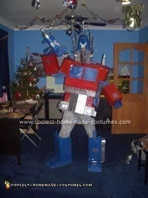 Homemade Optimus Prime Transformer Costume