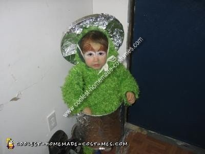 Homemade Oscar the Grouch Child Costume