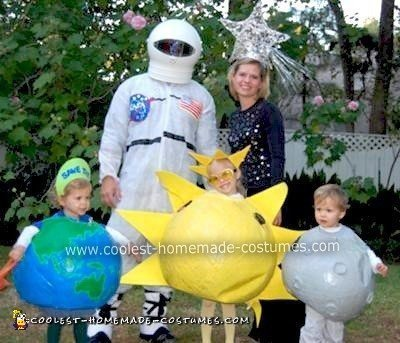 Homemade Outer Space Family Halloween Costume
