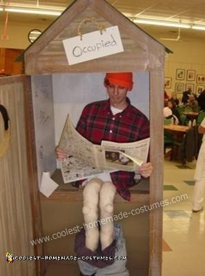 Homemade Outhouse Costume