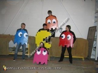 Homemade Pac Man Group Costume