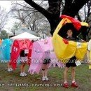 Homemade Pacman Group Halloween Costume