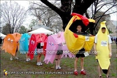 Homemade Pacman Group Halloween Costume
