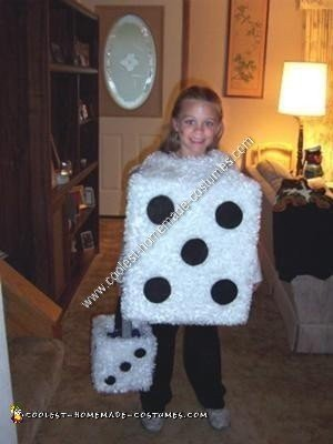 Homemade Pair of Dice Halloween Costume