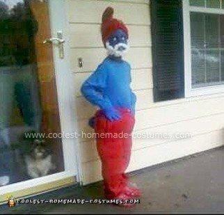 Homemade Papa Smurf Costume