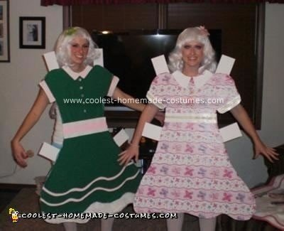 Homemade Paper Dolls Couple Costume