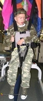Homemade Paratrooper and Chick Magnet Wheelchair Costume