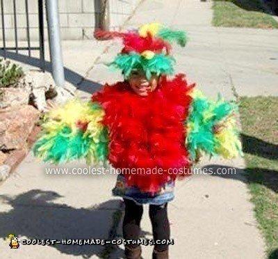 Homemade Parrot Halloween Costume