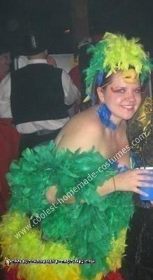 Homemade Parrot Halloween Costume Idea