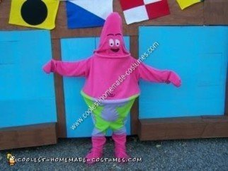 Homemade Patrick Star Halloween Costume