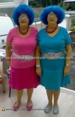 Homemade Patty and Selma Twins Costumes
