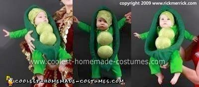 Homemade Pea in a Pod Costume