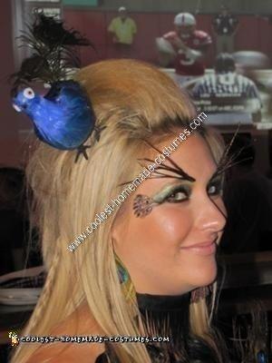 Homemade Peacock Halloween Costume Idea