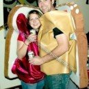 Homemade Peanut Butter and Jam Halloween Couple Costume