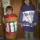 Homemade Peanut Butter and Jelly Costume
