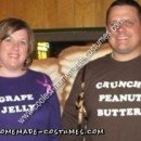 Homemade Peanut Butter and Jelly Sandwich Couple Costume