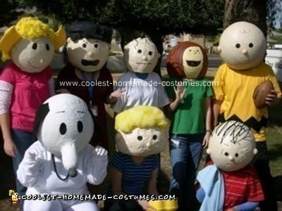 Homemade Peanuts Group Costume