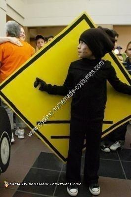 Homemade Pedestrian Crossing Sign Halloween Costume